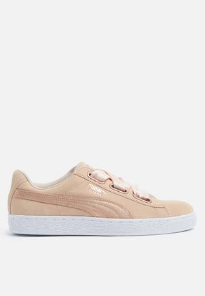 PUMA Suede Heart Sneakers Cream Tan