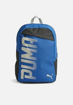 PUMA Pioneer Backpack Bags & Wallets Blue, Grey & Black