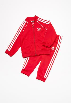 Adidas Originals Infants SST Tracksuit Pants & Jeans Red & White