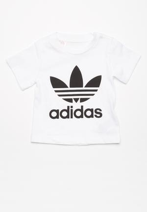 Adidas Originals Infants Trefoil Tee Tops White & Black