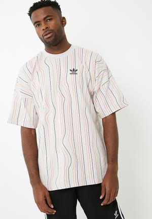 Adidas Originals LG Tee T-Shirts Grey, Purple, Orange & Pink