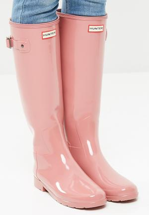Hunter Original Refined Gloss Boots Pink