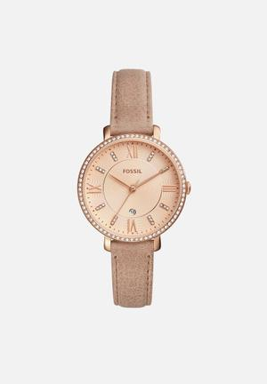 Fossil Jacqueline Watches Beige