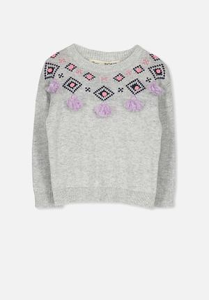 Cotton On Kids Nacy Knit Jumper Jackets & Knitwear Grey