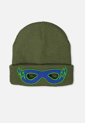Cotton On Kids Winter Knit Beanie Accessories Green & Blue