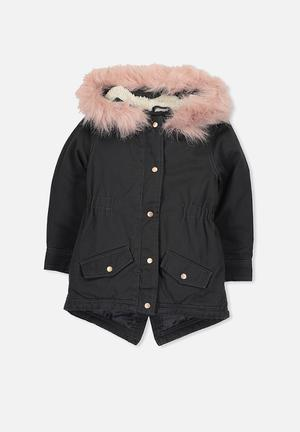 Cotton On Kids Genie Anorak Jackets & Knitwear Black & Pink