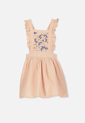 Cotton On Kids Pepa Skirtall Beige, Blue & Pink
