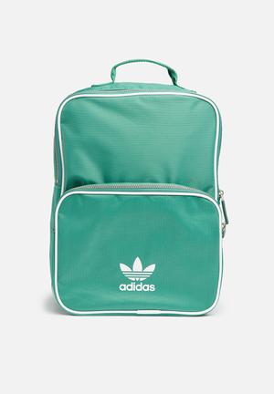 Adidas Originals Classic Adicolor Backpack Bags & Purses Green & White
