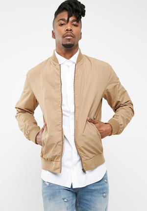 Jack & Jones New Pacific Bomber Jackets Bronze