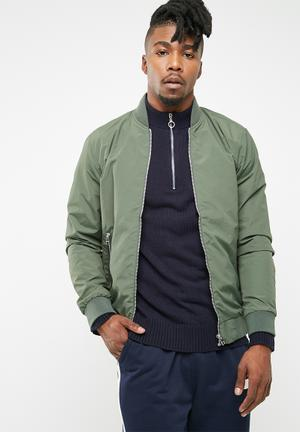 Jack & Jones New Pacific Bomber Jackets Green