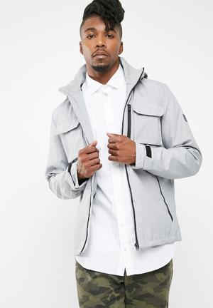 Jack & Jones Weel Hooded Jacket Grey & Black