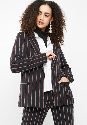 Dailyfriday Classic Suit Blazer Jackets Black, Burgundy & White