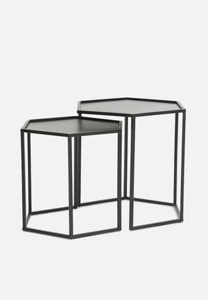 Sixth Floor Gabriela Table Set Of 2 Iron/Metal