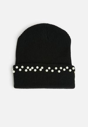 Dailyfriday Kaya Beanie Headwear Black & White