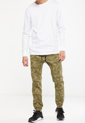 Cotton On Drake Cuffed Pant Green