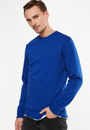 Cotton On Crew Fleece Sweat - Blue Blue