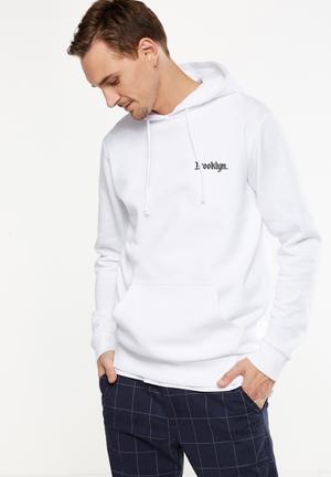 Cotton On Fleece Pullover Hoodie  - White Hoodies & Sweats White