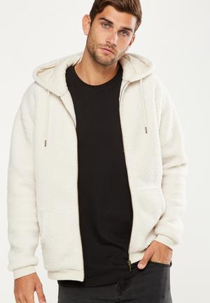 Cotton On Premium Zip Hood - Beige Hoodies & Sweats Beige