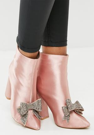 Dailyfriday Bow Detail Boot - Pink Blush