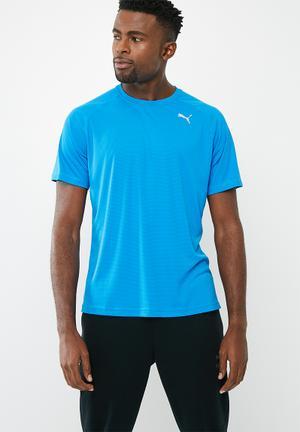 PUMA Core Run Short Sleeve Tee T-Shirts Blue