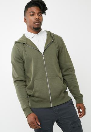 New Look Basic Zip Through Hoodie Hoodies, Sweats & Jackets Khaki