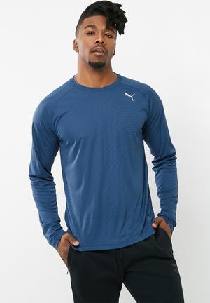 PUMA Core-run Long Sleeve Tee T-Shirts Blue