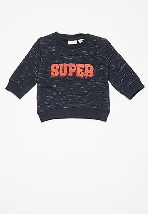 Name It Kids Boys Long Sleeve Sweater Tops Dark Navy