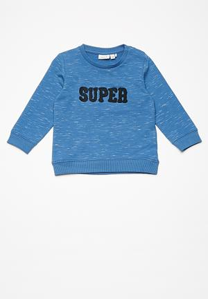 Name It Kids Boys Long Sleeve Sweater Tops Blue