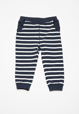 Name It Kids Boys Sweat Pants Navy & White