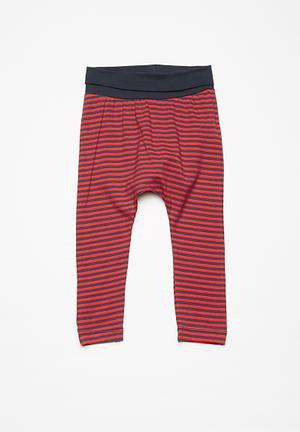 Name It Kids Boys Tommy Baggy Pants Red & Dark Navy