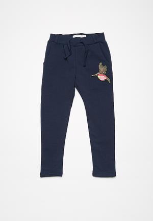 Name It Nina Sweat Pants Navy, Pink & Gold