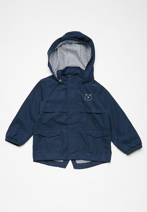 Name It Kids Boys Malle Jacket Navy & White