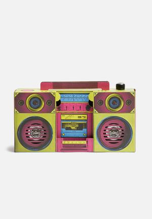 Mustard  Boombox Speaker Gifting & Stationery Cardboard