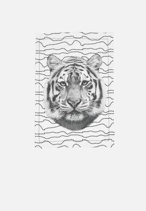 Present Time Tiger Face Tea Towel Dining & Napery 100% Cotton