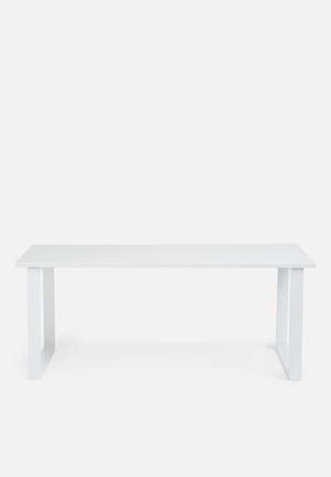 Present Time Fushion Coffee Table - White  MDF And Metal