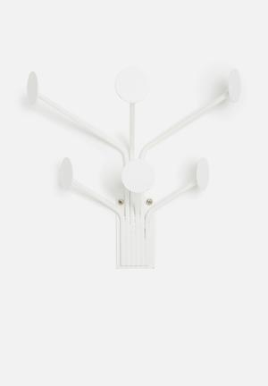 Present Time Wall Dots Coat Hanger - White Accessories White