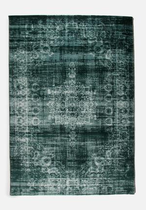 Fotakis Velvet Rug- Vintage Blue  Polypropylene With Cotton Backing