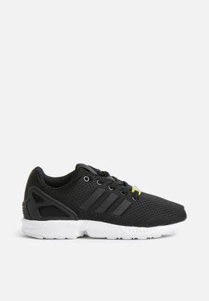 Adidas Originals Kids ZX Flux J Shoes Black/Black/White