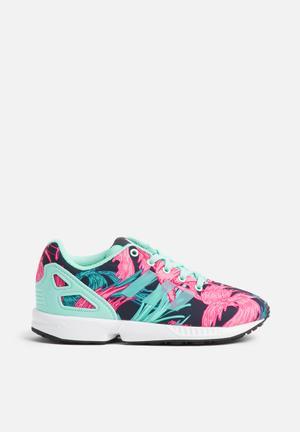 Adidas Originals Kids ZX Flux C Shoes White/Green/Pink