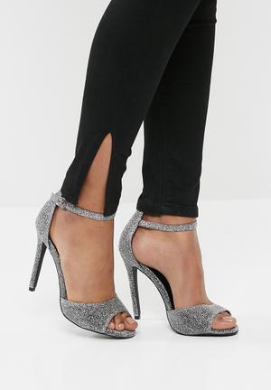 New Look Glitter Stiletto - Silver Heels Silver