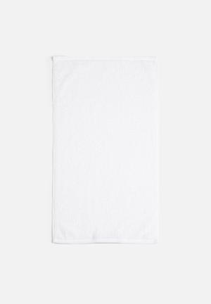 Linen House Reed Bath Towel - White 550gsm 100% Cotton