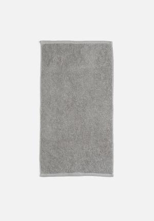 Linen House Reed Bath Towel - Grey 550gsm 100% Cotton