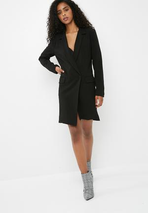 Dailyfriday Asymetic Blazer Dress - Black Formal Black