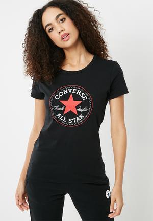 Converse Core Crew Short Sleeve Tee - Black T-Shirts Black