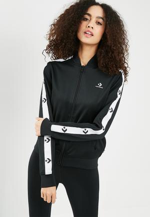 ca7ee9aa39a1cd Chevron long sleeve track jacket - black   white