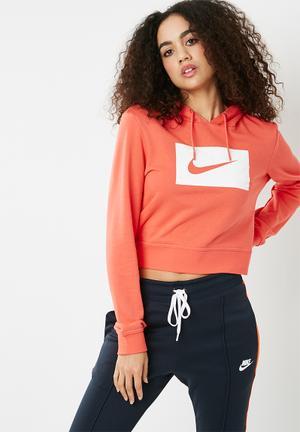 Nike Swoosh Hoodie - Coral Hoodies, Sweats & Jackets Coral