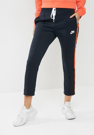Nike Stripe Pants - Navy & Orange Bottoms Dark Navy & Orange