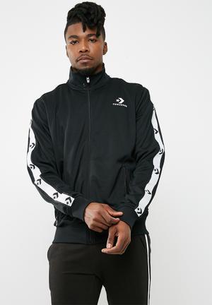 Converse Star Chevron Track Top - Black Hoodies, Sweats & Jackets Black