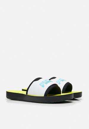 PUMA Select Fenty Surf Slide Sandals & Flip Flops Puma Black / Puma White