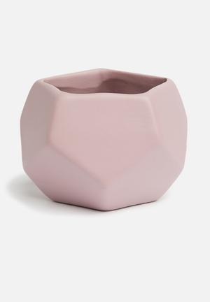Grey Gardens Hex Mini Vase - Lilac Accessories Ceramic, Fired/painted